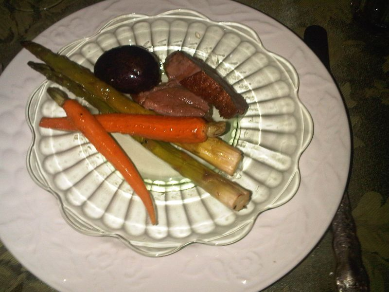 Duck and vegetables Passover 2011